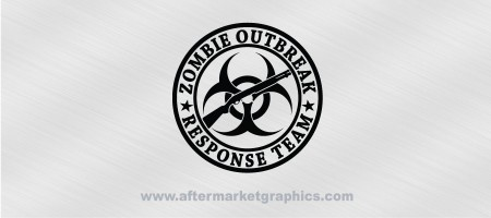 Zombie Outbreak Response Team Shotgun Biohazard Decal