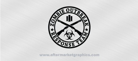 Zombie Outbreak Response Team Shotgun Cross Decal
