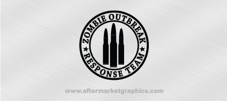 Zombie Outbreak Response Team Rifle Rounds Decal