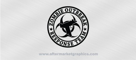 Zombie Outbreak Response Team Uzi Decal